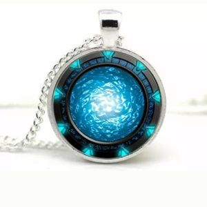 Stargate Portal Pendant & Necklace/Chain Jewelry